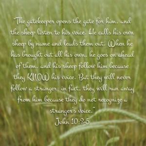 John 10:3-5