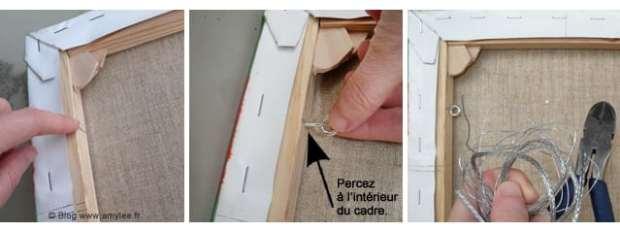 fil de fer dos tableau comment faire