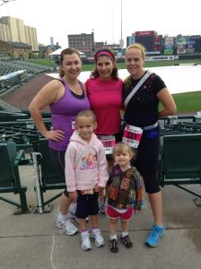 The ladies who would be running Rochester, including the lovely girls in the Kids' Race. Frontier Field