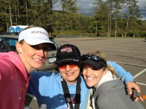 Tracy And Staci with me at the Pain in the Alleganies finish.