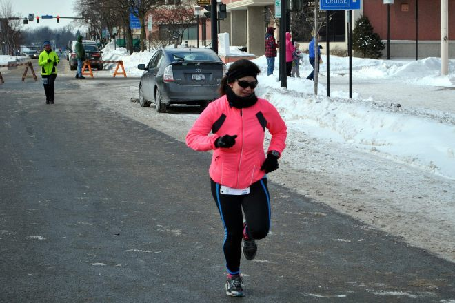 Kick to the finish and to pancakes. (Photo by Sam Spritzer.)