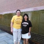 Two Bona grads celebrating strong women in Seneca Falls.