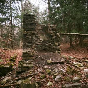Cabin ruins at Hunter's Creek.