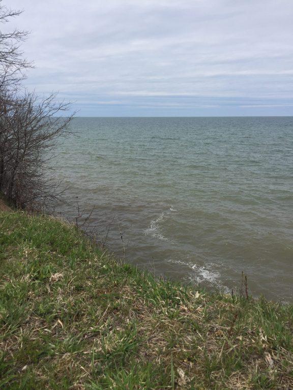 The Lake Ontario shoreline