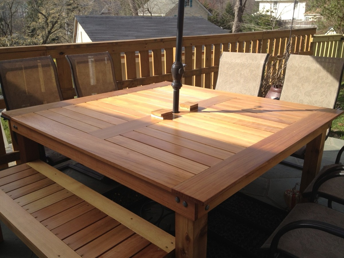 simple square cedar outdoor dining table diy kitchen table plans Simple Square Cedar Outdoor Dining Table