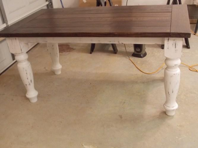 turned leg farmhouse table white distressed kitchen table TURNED LEG FARMHOUSE TABLE
