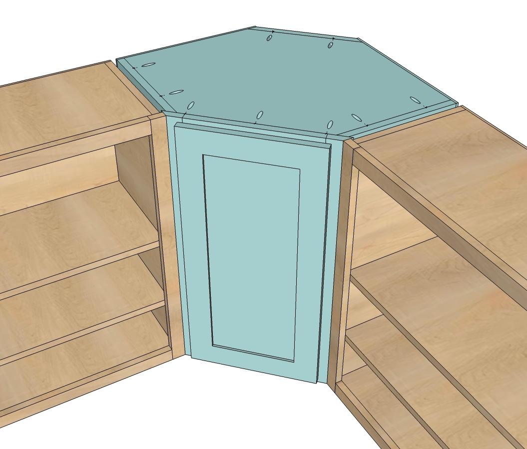 kitchen corner cabinet dimensions standard kitchen cabinet height Ana White Wall Kitchen Corner Cabinet Diy Projects