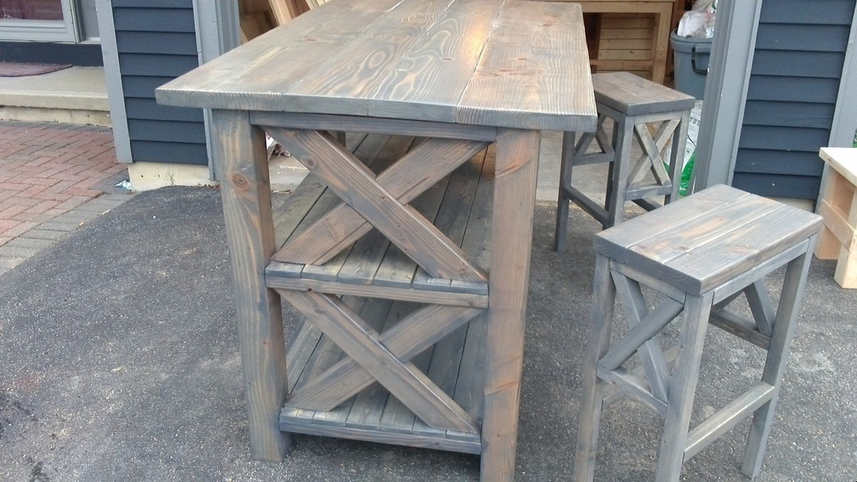 easy street breakfast bar kitchen island with chairs