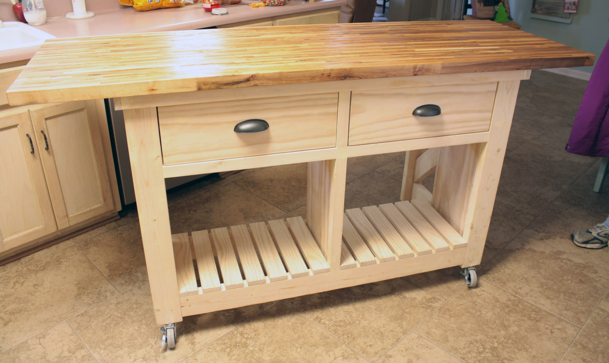 Corner Butcher Block Diy Projects Diy Kitchen Island From Dresser Diy Kitchen Island Kitchen Island Butcher Block Ana Kitchen Island kitchen Diy Island Kitchen