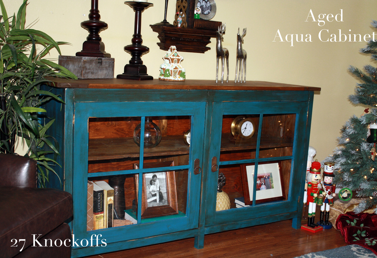 Swish Using Vaseline To Distress Aged Aqua Cabinet Ana Using Vaseline To Distress Aged Aqua Cabinet Diy Projects Small Media Console Cabinet Small Media Cabinet Black houzz-03 Small Media Cabinet