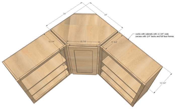 corner cabinet kitchen dimensions kitchen base cabinets Ana White Wall Kitchen Corner Cabinet Diy Projects