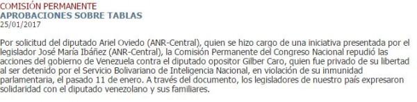 congreso paraguayo