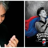 Andrea Bocelli cantará con Alicia Keys en final de la Liga de Campeones