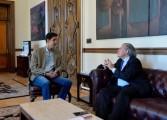 Oliver Blanco se reunió con Almagro en la sede de la OEA
