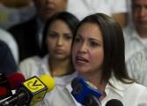 Machado rechazó inminente diálogo entre el gobierno y la oposición