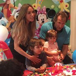 La familia Calandriello Streignard antes de la llegada del nuevo miembro