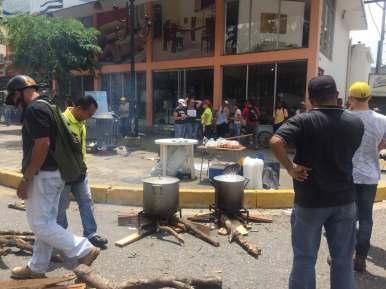 Trancocho en la Av. Bolívar