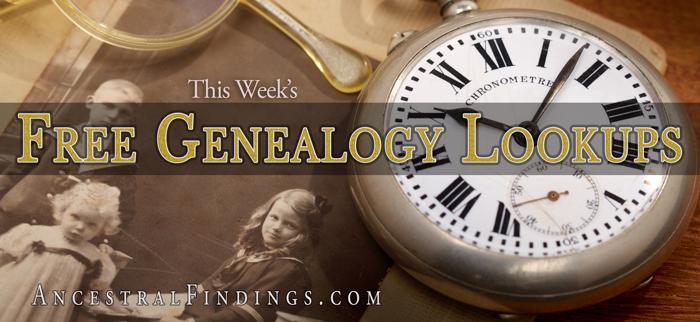 This-Weeks-Free-Genealogy-Lookups-2015-07-04