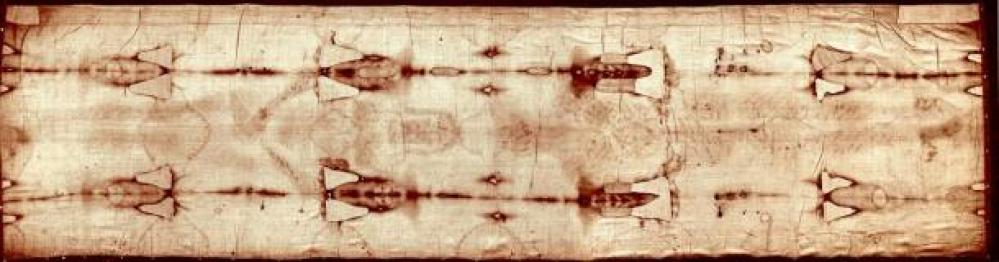 The full length of the Shroud of Turin. Image credit: Wikimedia Commons