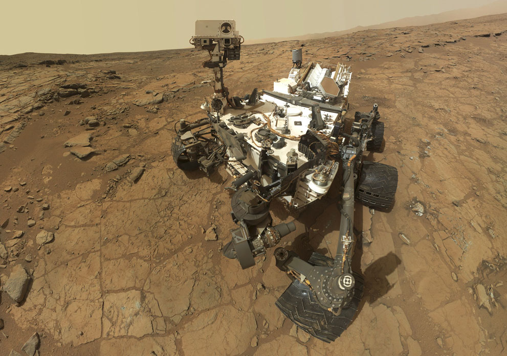 NASA's Curiosity rover taking a 'selfie' on the surface of the Red Planet