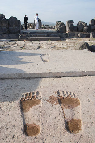 Giant steps in the temple of Ain Dara