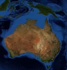 Australia_New_Guinea_continent (NASA's World Wind software using Landsat 7 data)
