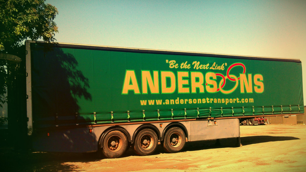 Andersons curtain side trailer