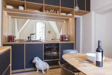 Küchenzeile mit Hund