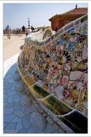 Мозаичная скамья (Banc de Trencadis) в парке Гуэля.