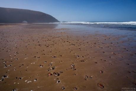 Отлив на пляже Legzira Beach.