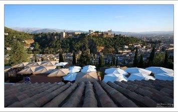 Альгамбра с высоты обзорной площадки Mirador de San Nicolas.