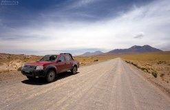 Nissan Terrano на Чилийском альтиплано.