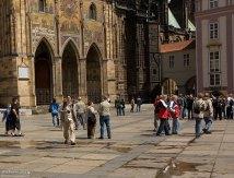 Площадь перед Золотыми воротами собора Св. Вита.