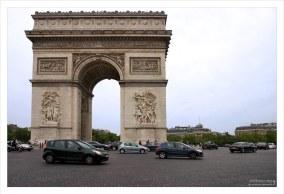Триумфальная арка на площади Звезды.