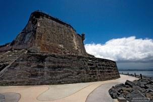 Северная часть крепости El Morro (18-й век). Сан-Хуан.