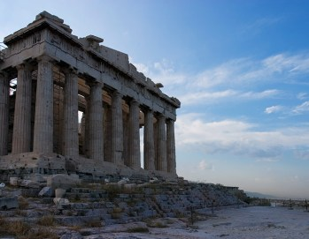 Западный фасад Парфенона. Акрополь.