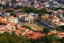 Вид на Афины с восточной части Акрополя.