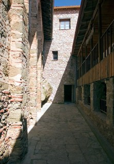 Внутри монастыря Megalo Meteoro. Метеоры.