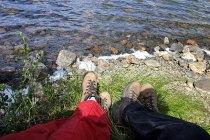 Отдыхаем на берегу озера Wonder lake.