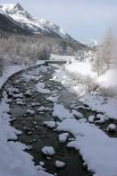 Зимний ручей. Долина Valnontey. Национальный парк Gran Paradiso.