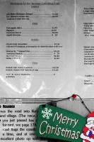 Рождественское меню придорожной лавочки.