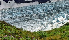 Ребристая поверхность ледника.
