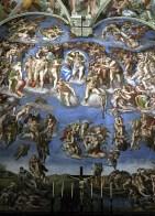 "Шедевр Микеланджело ""Страшный суд"". Сикстинская капелла Ватикана."