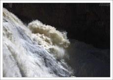 Пенистый поток водопада Gibbon.