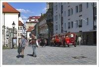 Туристический поезд в Братиславе.