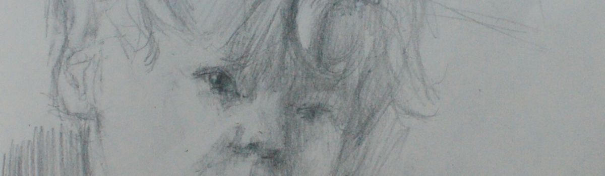 original pencil drawing of Jacob. portrait drawing
