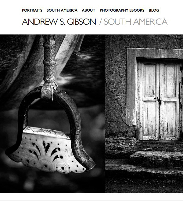 Andrew S. Gibson photography website