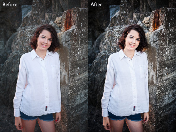Portraits retouched in Lightroom