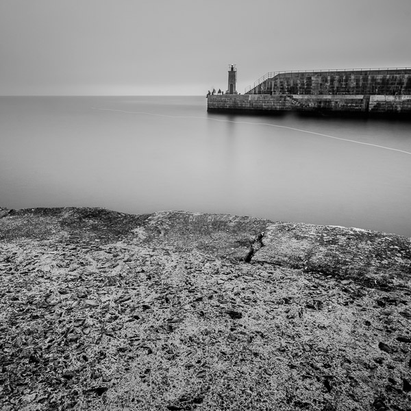 Black & white seascape processed in Lightroom