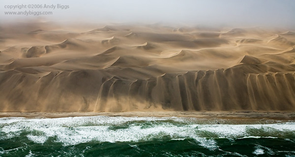 Colour fine art landscape photo of the Skeleton Coast in Namibia by Andy Biggs